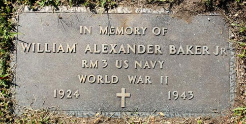 Ailliam Alexander Baker, Jr. marker