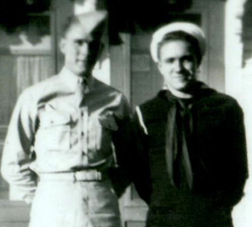 Vinton Jordan Earle (right) and brother Sgt. Charles B. Earle