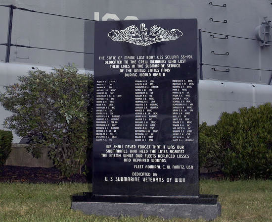 USS Sculpin Memorial - Maine