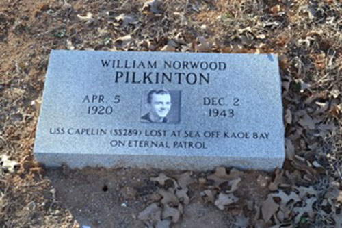William Norwood Pilkinton marker