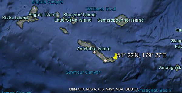 Approximate location of USS S-27