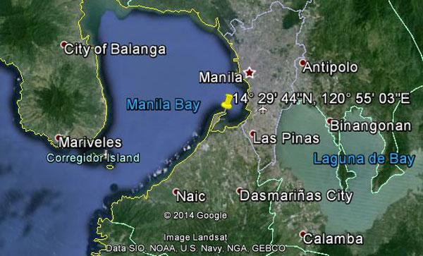 Location of USS Sealion